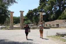 Shania was happy to see the Temple of Hera at Olympia