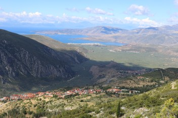 View of the coast from Parnassos
