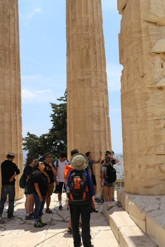 We were also allowed to go inside the pronaos of the Parthenon