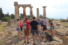 We picked up a few hop-ons at the Temple of Apollo