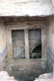 Peirene fountain with preserved paint
