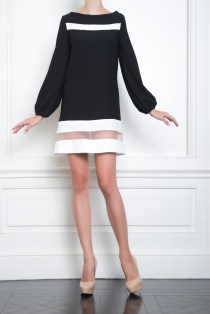 Celia Kritharioti black and white short dress
