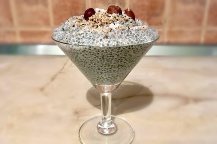 Chia pudding with hazelnut that requires no cooking