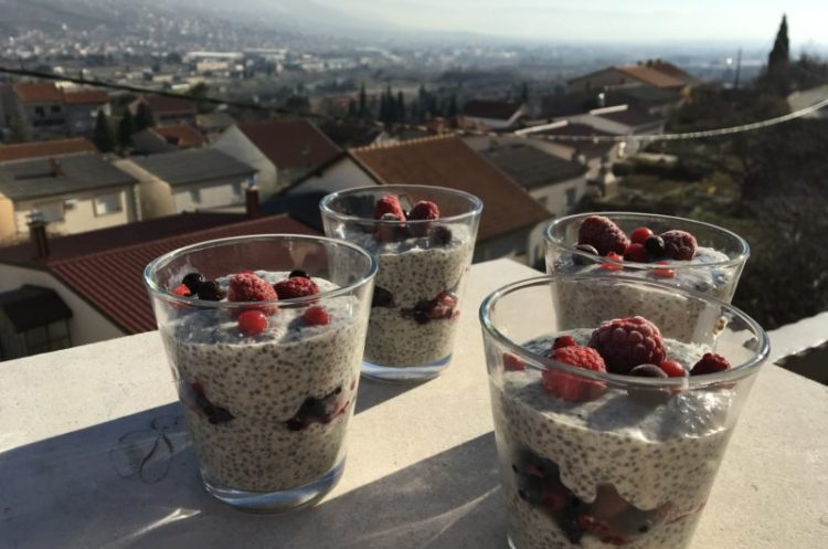 Chia pudding went to the forest...