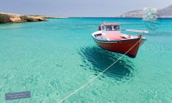 Fishing boat in Fanos beach
