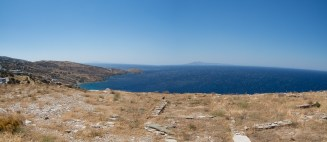 View of Andros coast from Hypsili