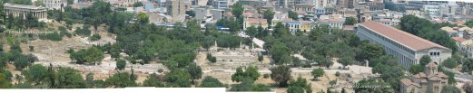 Ancient Agora of Athens in panorama