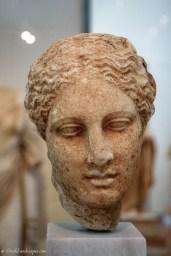 Marble head of Hygieia