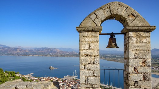 View of Nafplio old town from above