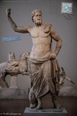 Marble statue of Poseidon
