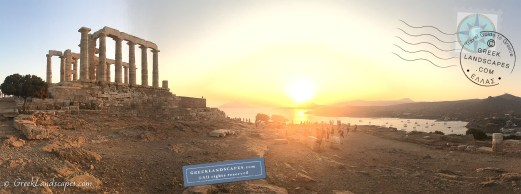 Sunset at Sounion with the Temple of Poseidon