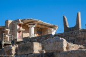 View of Knossos with depiction of bull horns
