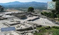 View of Phaistos palace