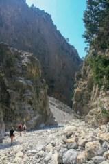 View of Samaria Gorge path