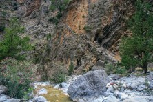 Samaria gorge with limestone