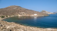 Panoramic view of Agia Thalassa beach