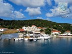 The harbor of Fiskardo in Kefalonia island