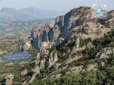 Monasteries on top of Meteora rocks