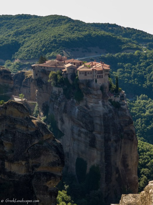 Verlam Monastery on top of Meteora rock