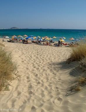 Plaka Beach sand