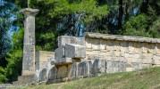 Ruins at ancient Olympia, Greece.
