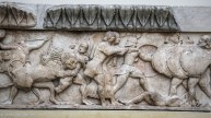 Relief sculpture depicting a battle