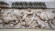 Relief sculpture depicting a battle