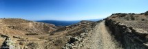 Panorama of hiking path and rugged landscapes