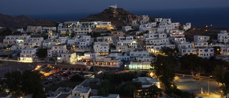 Sailing Greece Ios town Greek Sun Yachts