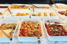 Buffet at Spirit Vegan restaurant Amsterdam East- Green Amsterdam