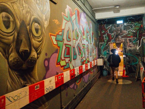 De Peper - Budget friendly vegan dinner at OT301 Amsterdam - Green Amsterdam artworks streetart entrance
