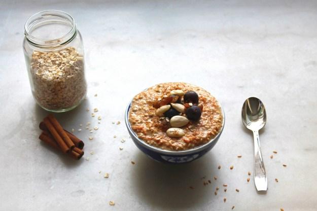 porridge carotte cake avoine sans cuisson