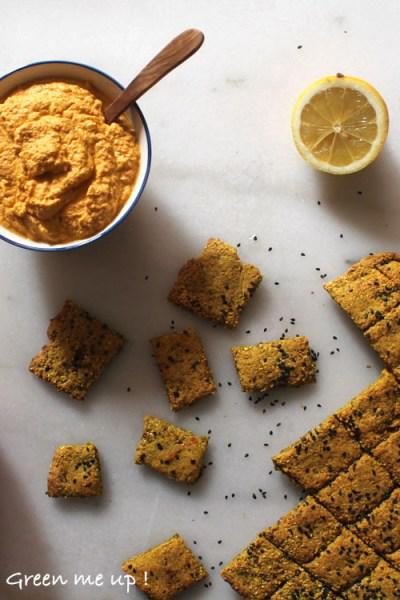 crackers-sans-gluten-tartinade-carotte-crue