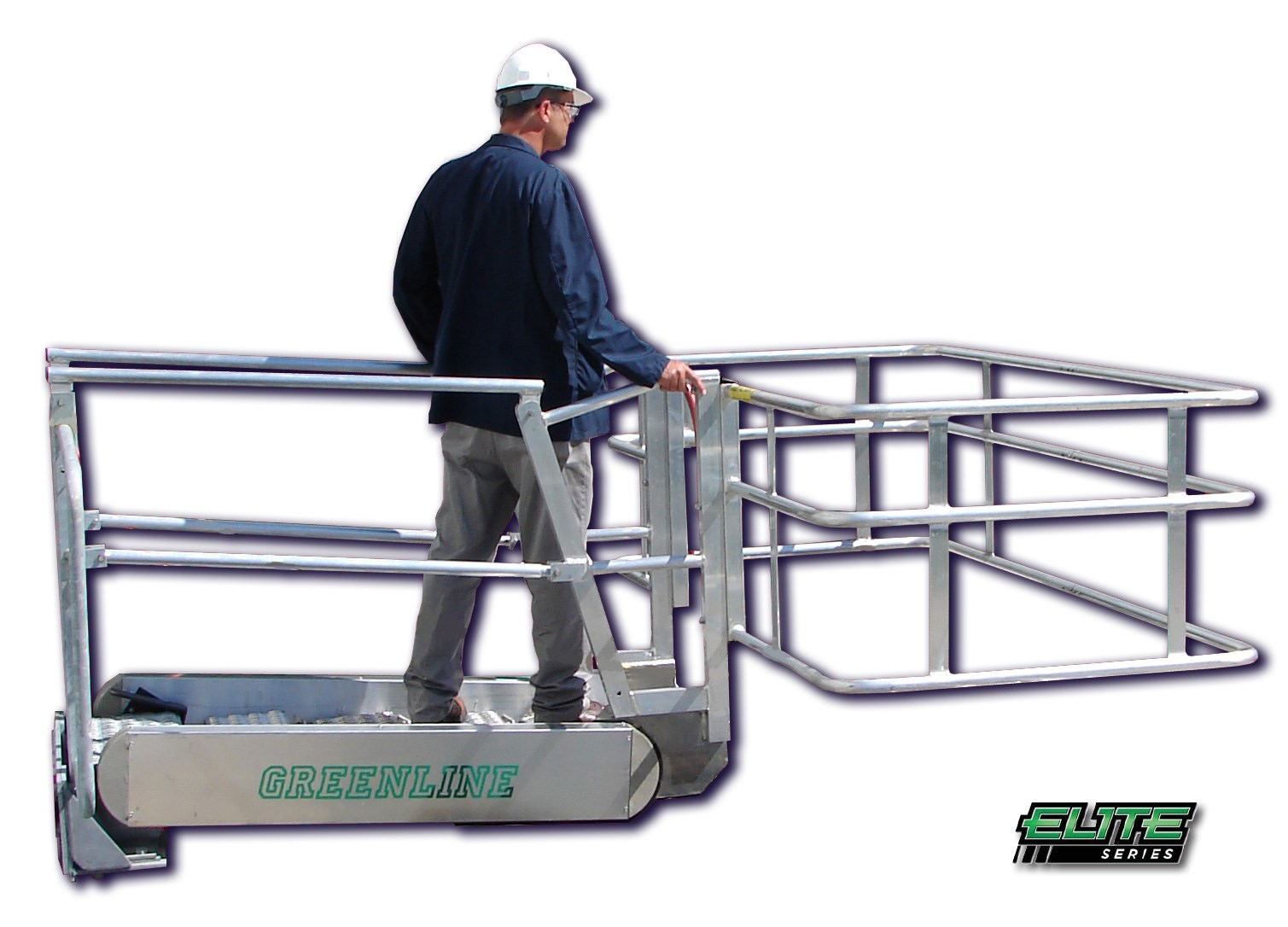 ... Elite Series GREENLINE Gangway | Self Leveling Stairs | Made In The USA  | Green ...