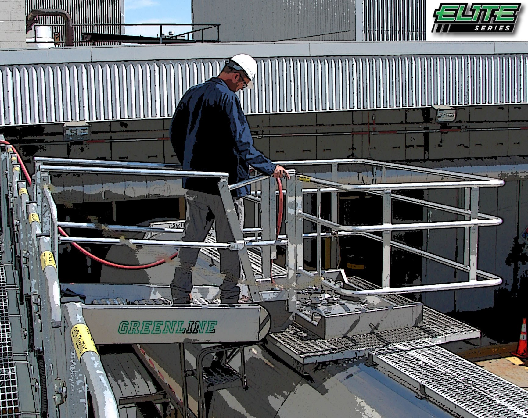 Self Leveling Stairs : Elite series greenline gangway self leveling stairs