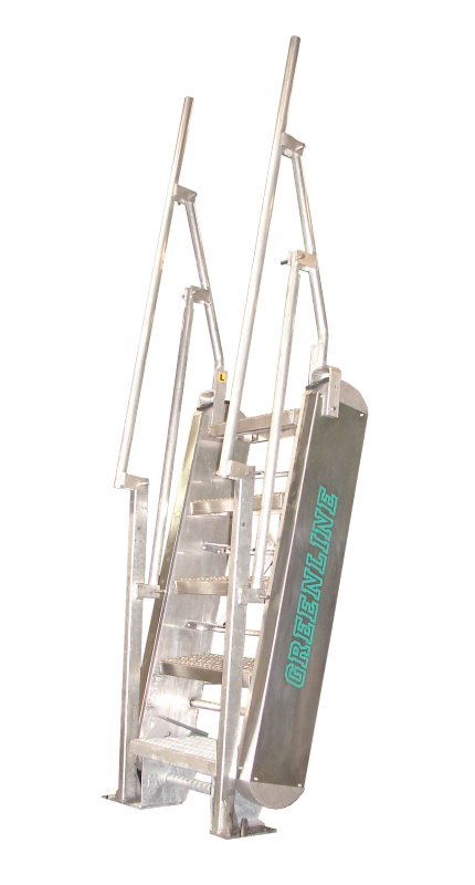 Greenline Gangway Model Ss Self Leveling Stairs Green