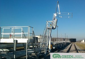 Single-Hatch Access Platforms for Tank Trucks and Railcars