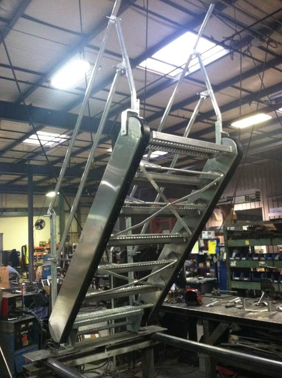 ... GREENLINE Gangways | Self Leveling Safety Stairs ...