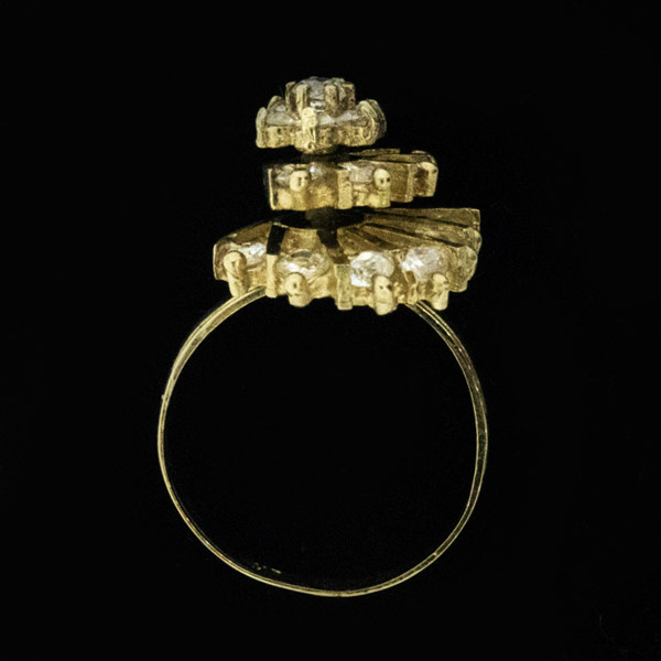 Fabulous 10k Genuine Diamond Ring Size 7.5 - Green Acres Antiques Marietta OH