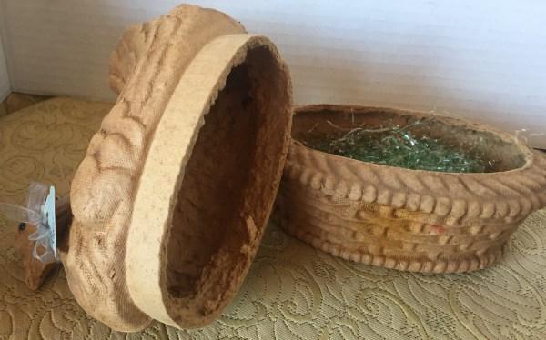 Paper Mache' Hen and Nest - Green Acres Antiques Marietta OH