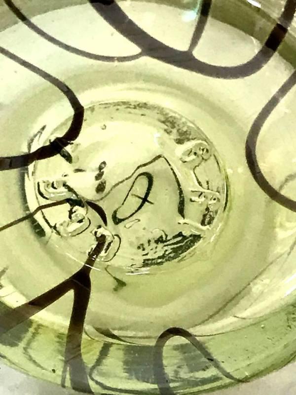Gibson Vaseline Glass Cruet - Green Acres Antiques Marietta OH