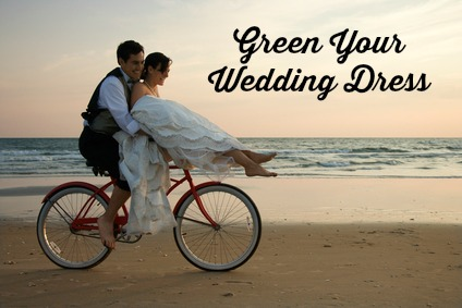 Green Your Wedding Dress #Green #Wedding