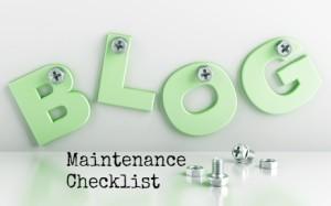 Blog Maintenance Checklist #blogging