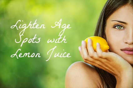 Lemon juice to help lighten age spots. #natural