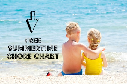 Download a free summertime chore chart