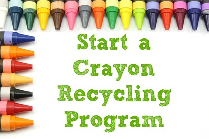 How to start a crayon recycling program #recycle #school #green