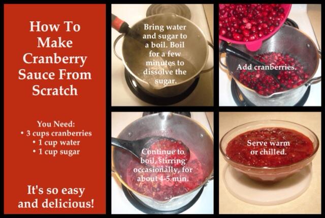 How to make cranberry sauce. #homemade