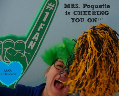 Mrs. Poquette cheering #k12 #teaching