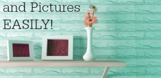 How to hang wall art and pictures easily! No power tools or levels needed! #DIY #Lifehacks #Tips