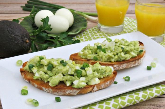 Recipe: Open-Faced Avocado Egg Salad Sandwich